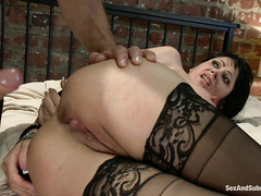 Ramon Nomar and Eva Karera have an intense fuck session involving ropes