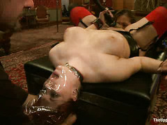 Audrey Rose's first slave training session leaves her crying out