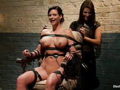Phoenix Marie screams as her body is subjected to electroplay torture