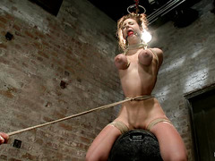 Iona Grace experiences multiple forced orgasms during intense BDSM session