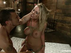Pain slut Charisma Cappelli roughly fucked, whipped and spanked by Mr. Pete