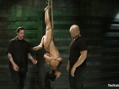 Adrianna Luna experiences whipping, face fucking and bondage during training