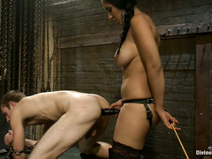 Cutie Blake gets pegged, whipped and caned by the beautiful Isis Love