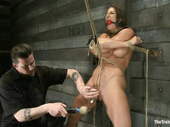 Ariel X is the victim of intense slave training with lots of pussy pain