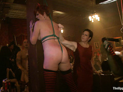 Cock-hungry slave girls offer up all holes for the entertainment of guests
