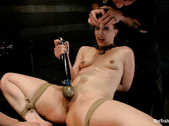 Katharine Cane's pussy is all spread out for the enjoyment of her Masters