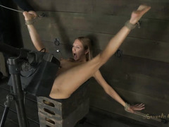 Three bound girls are used and abused by a ruthless Dom and his dick