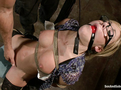 Nicki Hunter gets dominated and fucked hard by an unhappy actor