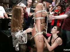 Mischa Books's gorgeous body is abused during humilating public disgrace