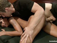 Skin Diamond is brutally violated during extreme bondage session