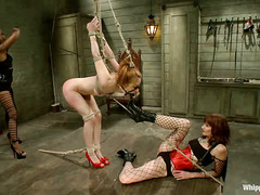 Calico gets tag-teamed and abused by two ruthless lesbian Dommes