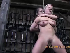 Pain is all this blonde comes to know during brutal BDSM activities