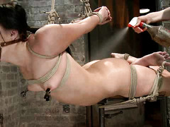 Ashli Orion withstands uncomfortable bondage positions for her Mistress