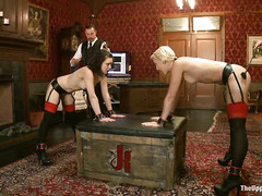 Two new and naive slaves work hard to impress their punishing Masters