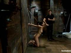 Vicki Chase offers up her bound body for James Deen's rough fucking