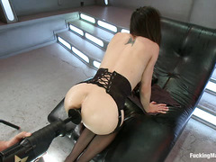 Cytherea drenches everything in sight when she squirts during machine fuck