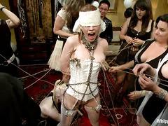 Justine Joli has her dirtiest lesbian orgy fantasies come true