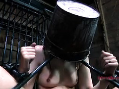 Begging slut is restrained and forced to submit to her two Masters