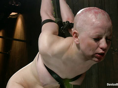 Alani Pi is bound tightly and whipped hard until she squeals and writhes