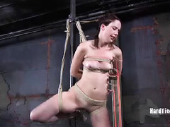 Paddling, spanking and whipping await this bound and tormented babe