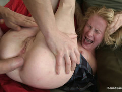Daikiri is gangbanged by cruel cops who fuck her pussy and ass