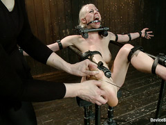 Lorelei Lee is bound in metal and made to beg for both pleasure and pain