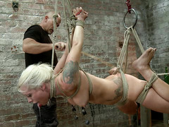 Lorelei Lee begs for more as her throat is fucked and her pussy caned