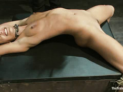 Worked up slave Lyla Storm has the tension punished out of her