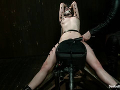 Alani Pi's bound orgasms are so strong she literally convulses