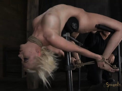 Canes, clamps, dildos and whips make these girls moan behind their gags