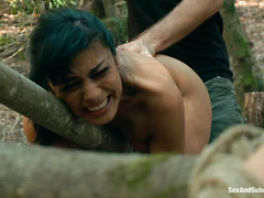 James Deen ambushes Beretta James and Chanel Preston in the woods