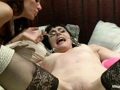 Katharine Cane watches on as her girlfriend fucks another woman