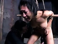 An Asian tramp is forced to feel the pleasure of orgasm repeatedly