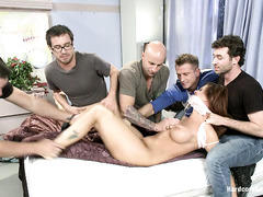 Hot teacher Syren De Mere is taken down by students and gangbanged