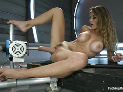 Orgasm superstar Felony soaks everything in sight while getting machine fucked
