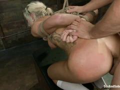 Maia Davis' tits and pussy are worked over by the relentless Mr. Pete