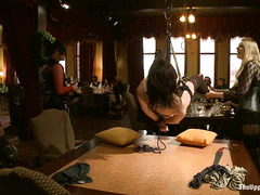 All the dirty freaks come out for Stefano's exciting BDSM brunch