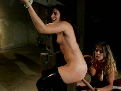 Sheena Ryder is brutally whipped before being ass-fucked by Felony