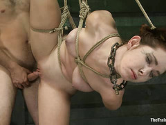 Submissive honey Melody Jordan tries her hand at slave training