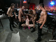 Melody Jordan is ambushed by biker dudes who fuck her ass roughly