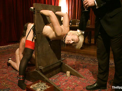 The Steward invites guests to try out his sexy and submissive slaves