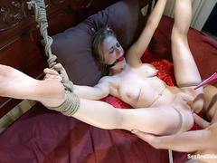 The ass of Penny Pax takes a giant boner while her tits are clipped