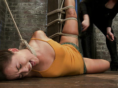 Kristina Rose's sensitive cunt is pinched cruelly by pins and fingers