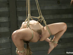Kristina Rose's slave training uses pain to whip her into shape