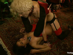 Submissive beauties offer up their bodies during this party