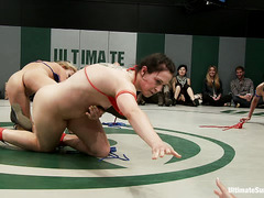 Four ladies use all the moves they know in an effort to win this match