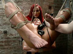 Ariel X suffers at the hands of cruel Dommes Mz Berlin and Claire