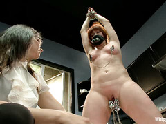 Odile becomes a sexual plaything for lesbians Bobbi Starr and Lea Lexis