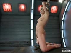 Bailey Blue uses toys and machines to make herself cum time and again