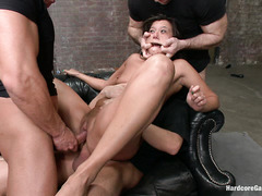 Cece Stone becomes a toy for five guys with hard, leaking erections